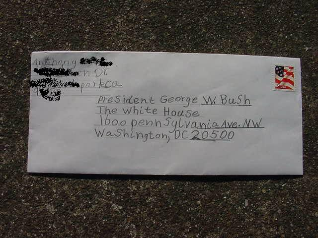 how to write for the attention of on an envelope